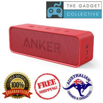 AU93.45 • Buy Anker Soundcore Portable Bluetooth Speaker W Mic 24 Hour Battery 20m Range RED