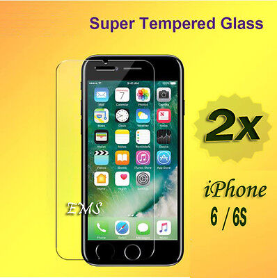 AU1.75 • Buy 2X Tempered Glass LCD Screen Protector Film Guard For Apple IPhone 6 6S