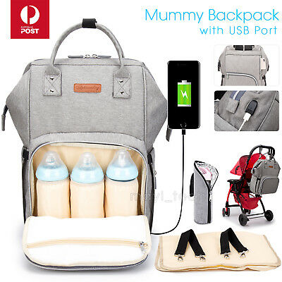 AU35.99 • Buy Multifunctional Large Baby Diaper Backpack Changing Waterproof Bag Mummy Nappy