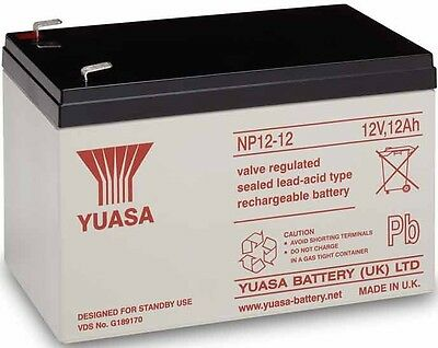 YUASA NP12-12, 12 Volt 12ah Battery - Cell For Kids Electric Toy Car/ Scooter • 34.99£