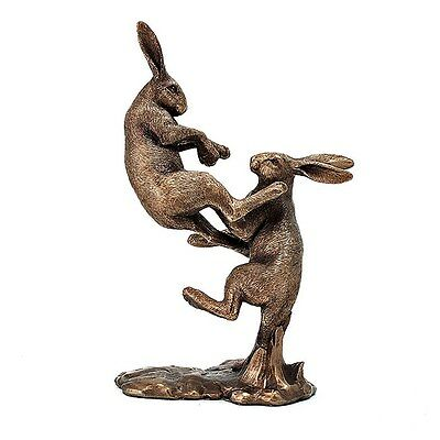 £22.90 • Buy  Reflections Bronzed Pair Fighting Hares Leonardo Collection  Lp40953 Ornament