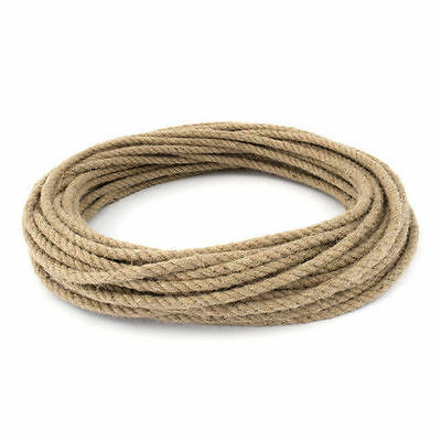 8mm 100% Natural Pure Jute Rope 3 Strand Braided Twisted Cord Twine Sash New • 1.08£