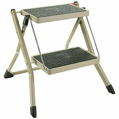 Polder 2 Step Folding Stool Ladder Without Rail - Siver  - 49 X 47.5 X 46CM • 18.99£