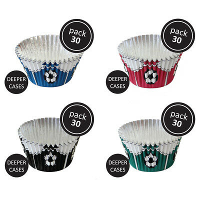 £4.99 • Buy PME 30pk Green Football Foil Standard Cupcake Cup Cake Muffin Party Baking Cases