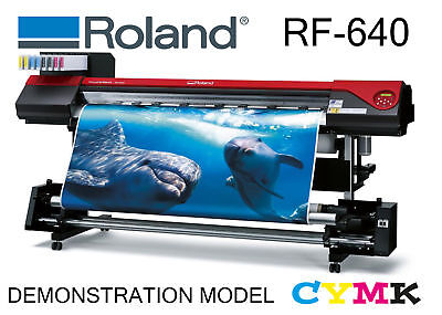 AU17999 • Buy ROLAND RF-640 W/TU CMYK WIDE FORMAT SOLVENT PRINT EX-DEMO VIC PICK UP