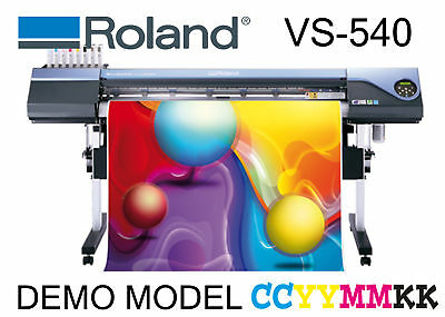 AU21999 • Buy ROLAND VS-640 VS-540 2xCMYK W/TU WIDE FORMAT SOLVENT PRINT CUT NSW PICK UP
