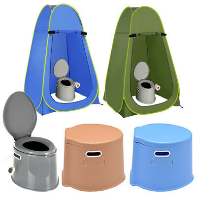 6l Large Portable Toilet Potty Loo Caravan Picnic Instant Pop Up Camping Tent • 19.95£