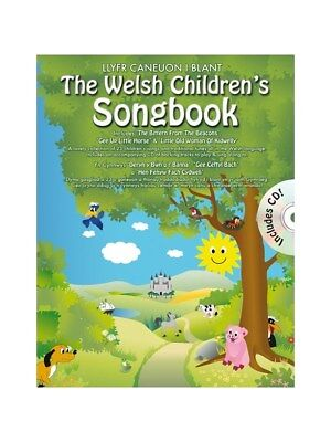 The Welsh Childrens Songbook Songs Tunes Learn To Sing Voice MUSIC BOOK & CD • 12.99£