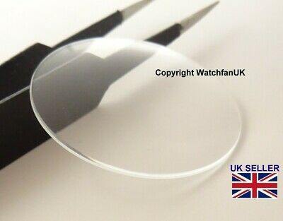 £4.50 • Buy Watch Glass Mineral Crystal  Double Domed Round - 0.8mm Dia Range 17 Mm To 34mm
