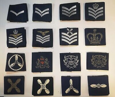 Genuine British Royal Air Force Cadets RAF ATC Rank Slides 1 Pair  NCO/WO  • 5.99£