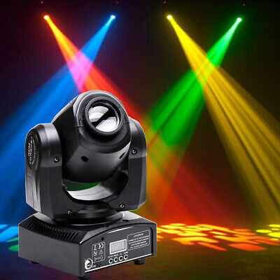 30W RGBW DJ LED Moving Head Stage Light Spot GOBO Lighting DMX Disco Party Decor • 69.99£