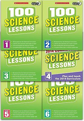 100 Science Lessons: 2014 Curriculum Collection - 6 Books Set Pack (Year 1 To 6) • 69.99£