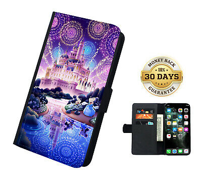 AU16.99 • Buy Disney Magical Castle Mickey Printed Faux Leather Flip Case Cover Wallet