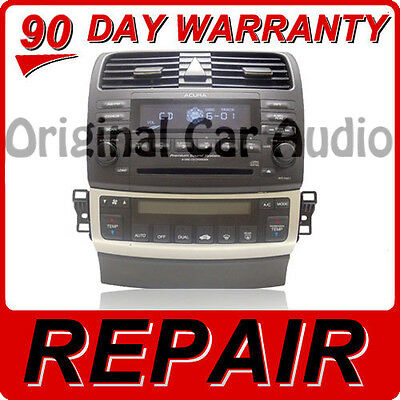 $176.70 • Buy REPAIR ONLY 04 05 06 07 Acura TSX Radio Stereo Receiver 6 Disc Changer CD Player