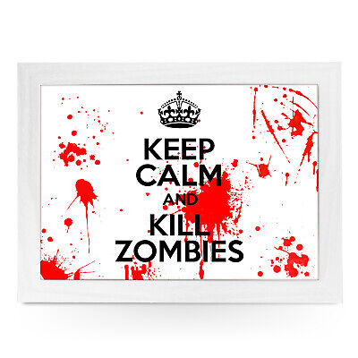 £24.95 • Buy Keep Calm And Kill Zombies - Personalised Wood Frame Padded Lap Tray L411