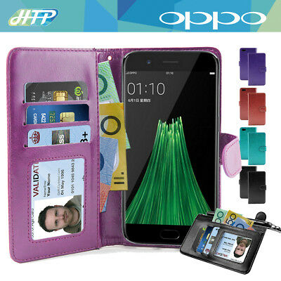 AU7.95 • Buy Wallet Flip Leather Pocket Cover AU Oppo R11 / R9s / Plus / F1s / Find 9 Case