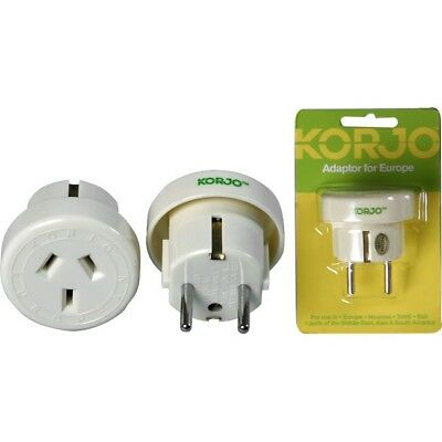 AU14.95 • Buy Korjo Travel Adaptor For Europe From Australia New Zealand