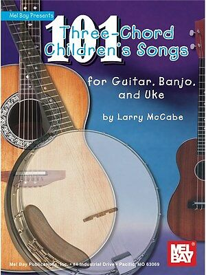 101 Three-Chord Children's Songs For Guitar, Banjo & Uke Present MUSIC BOOK • 14.94£