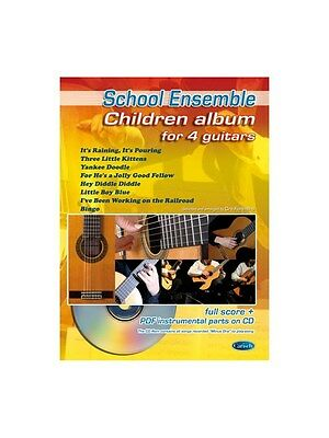 Children Album For 4 Guitars Learn To Play MUSIC BOOK & CD Guitar Quartet • 16.95£
