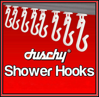 £2.79 • Buy White Shower Curtain Hooks Gliders Runners Clip Track Rail Bathroom Replacement