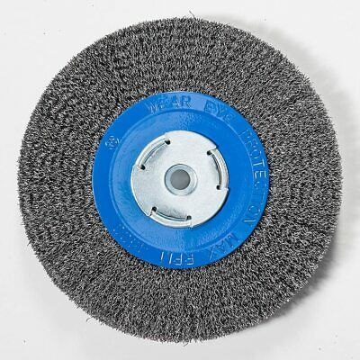 $ CDN53.73 • Buy 8  Inch Crimped Wire Wheel For Bench Grinder 2 , 1/2 , Or 5/8  Arbor - PACK OF 2