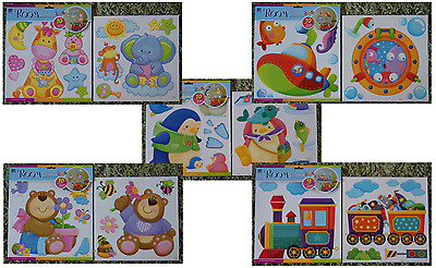 Jungle Animals Trains Fish Teddy Bears Nursery Kids Boys Girls Wall Stickers • 9.99£