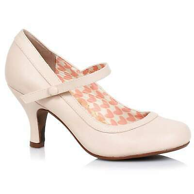 AU115 • Buy Bettie Page Bettie Mary Jane Shoes - Nude - Vintage Retro Rockabilly 50s 5-11