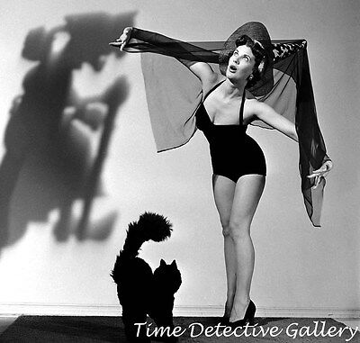 $ CDN12.98 • Buy Halloween Pin-up Girl Lucille Barkley - 1950 - Vintage Photo Print