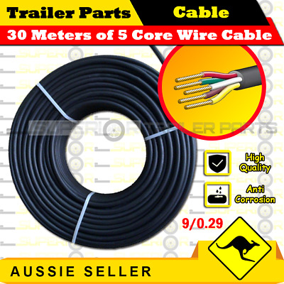 AU33.10 • Buy 30M X 5 Core Wire Cable Trailer Cable Automotive Boat Caravan Truck Coil V90 PVC