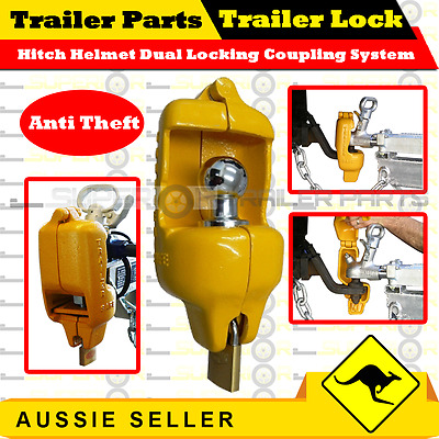 AU155 • Buy Trailer Lock Hitch Helmet Dual Locking Coupling System JET-SKI BOAT BOX TRAILER