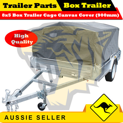 AU440 • Buy Superior 8X5 TRAILER CAGE CANVAS COVER (900mm) Heavy Duty Canvas Best Quality