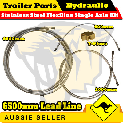 AU148 • Buy Hydraulic Stainless Steel Braided Trailer Brake Line Kit Single Axle Kit 6.5 M