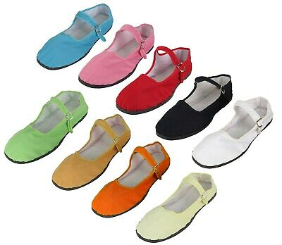 Women's Chinese Mary Jane Cotton Shoes Slippers Sizes 35 - 42 New • 4.49£