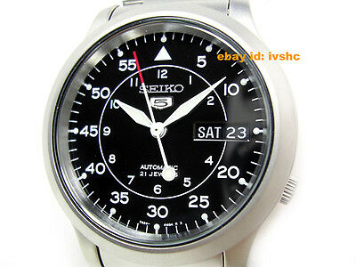 $ CDN127.36 • Buy SEIKO 5 SNK809 SNK809K1 Military Army Automatic Black Ready To Ship !