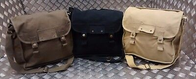 Military Type ARMY Canvas / Haversack Shoulder Bag Festival Asst Cols - NEW  • 13.99£
