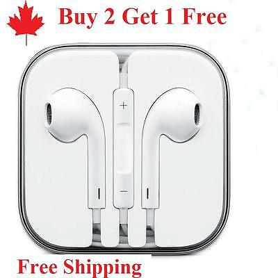 $ CDN8.99 • Buy Earphones EarBuds For Apple IPhone 4, 5, 6 7 8 X 11 Headphones With Mic Vol