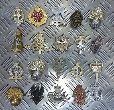 Genuine British Army Military Metal / Staybrite Regimental Issue Hat Badges  • 4.99£