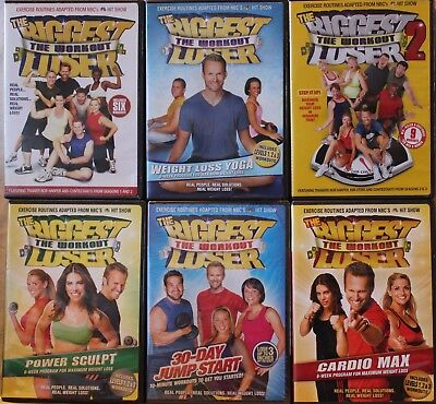 6 The Biggest Loser Workout DVD Lot, Weight Loss Yoga Power Sculpt 2 Last Chance • 11.57£