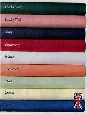 Large Plain Colour Fabric Tablecloth Table Cover Poly Cotton 68 Pick Heavy  • 8.50£