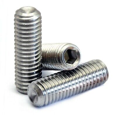 $4.30 • Buy M5 Stainless Steel Set Screws With Cup Point, Socket (Allen Key) Drive, DIN 916