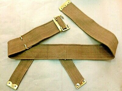 WWI BRITISH P08 WEB BELT (3  Inches Wide) - REPRODUCTION • 33£