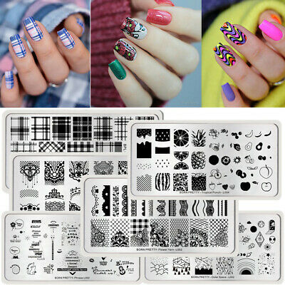 $0.70 • Buy BORN PRETTY Nail Stamping Plates Nail Art Image Stamp Template Stencils