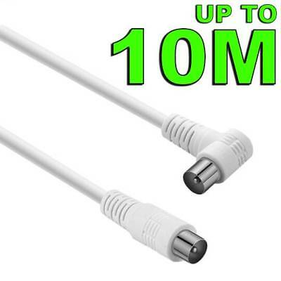 AU4.75 • Buy Right Angle TV Antenna Cable Flylead Cord Aerial Coax Male PAL Plug Lead Adapter