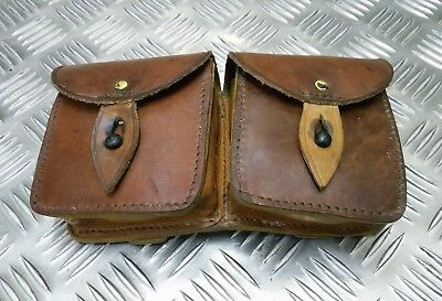 Genuine Vintage Military Issue Double Leather Ammo / Utility Pouch Un-issued • 16.99£