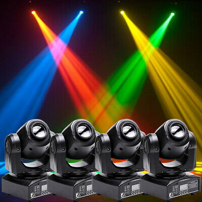 U`king 4PCS RGBW Sport Gobo LED Moving Head Stage Lighting DMX512 Wedding Party • 209.99£