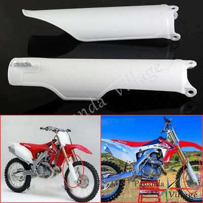 $12.09 • Buy Fork Guard Protector Cover White For Honda CR125 CR250 CRF250 CRF450 04 05 06 07