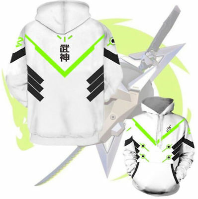 $ CDN36.48 • Buy Overwatch OW Genji Cosplay Hoodie Sweaters Anime Unisex Casual Coat Sweatshirt