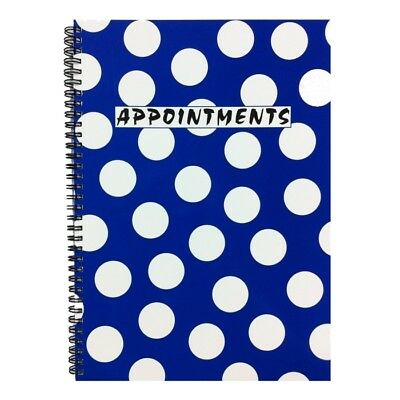 Salon Appointment Pad Blue Spot Spiral Book Nails, Beauty, Tanning, Hairdressers • 13.99£