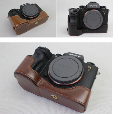 $ CDN11.20 • Buy Half Leather Case Grip Bag For Sony Alpha ILCE-9 A9 A7III A7RIII Camera, 3 Color