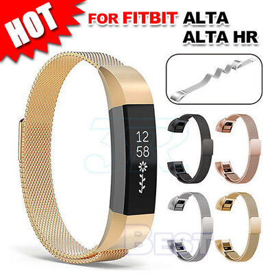 AU11.95 • Buy Stainless Steel Replacement Spare Magnetic Band Strap For Fitbit Alta / Alta HR